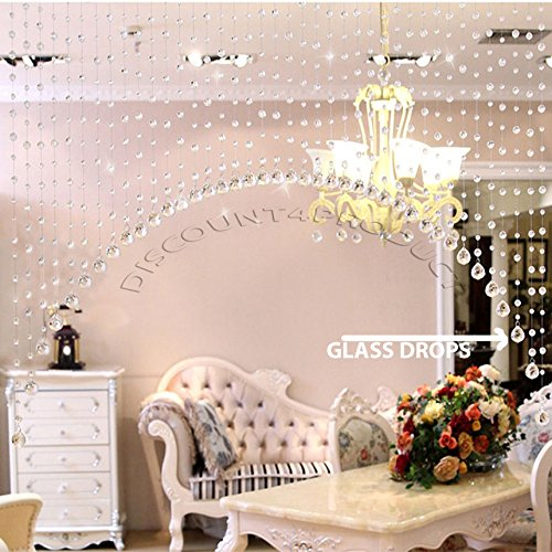 Amazon.com: Discount4product Ark shape Crystal bead curtain 30 ...