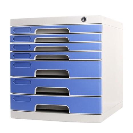 Archivadores Liuyu · Living Home con Lock File Cabinet Storage Desktop 7 Cajas Cajones