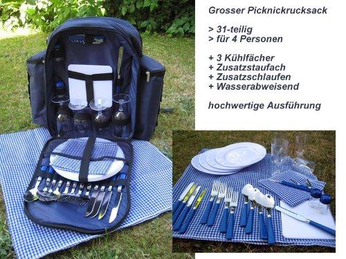 #Picknickrucksack für 4 Personen 31-teilig#