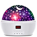 HXSNEW Star Projector with Timer and