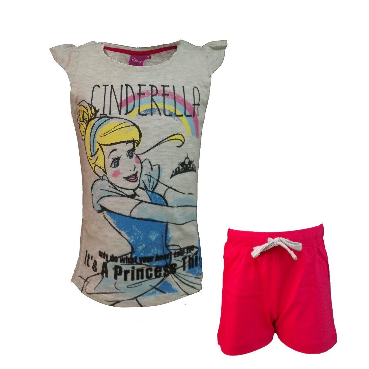 Disney completo bambina/ragazza mezza manica corto in cotone CENERENTOLA art. 5944B