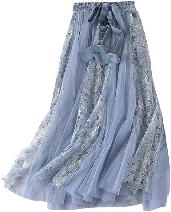 Gusspower Mujer Falda de Pastel Larga Vintage De Tul Plisada Tutu ...