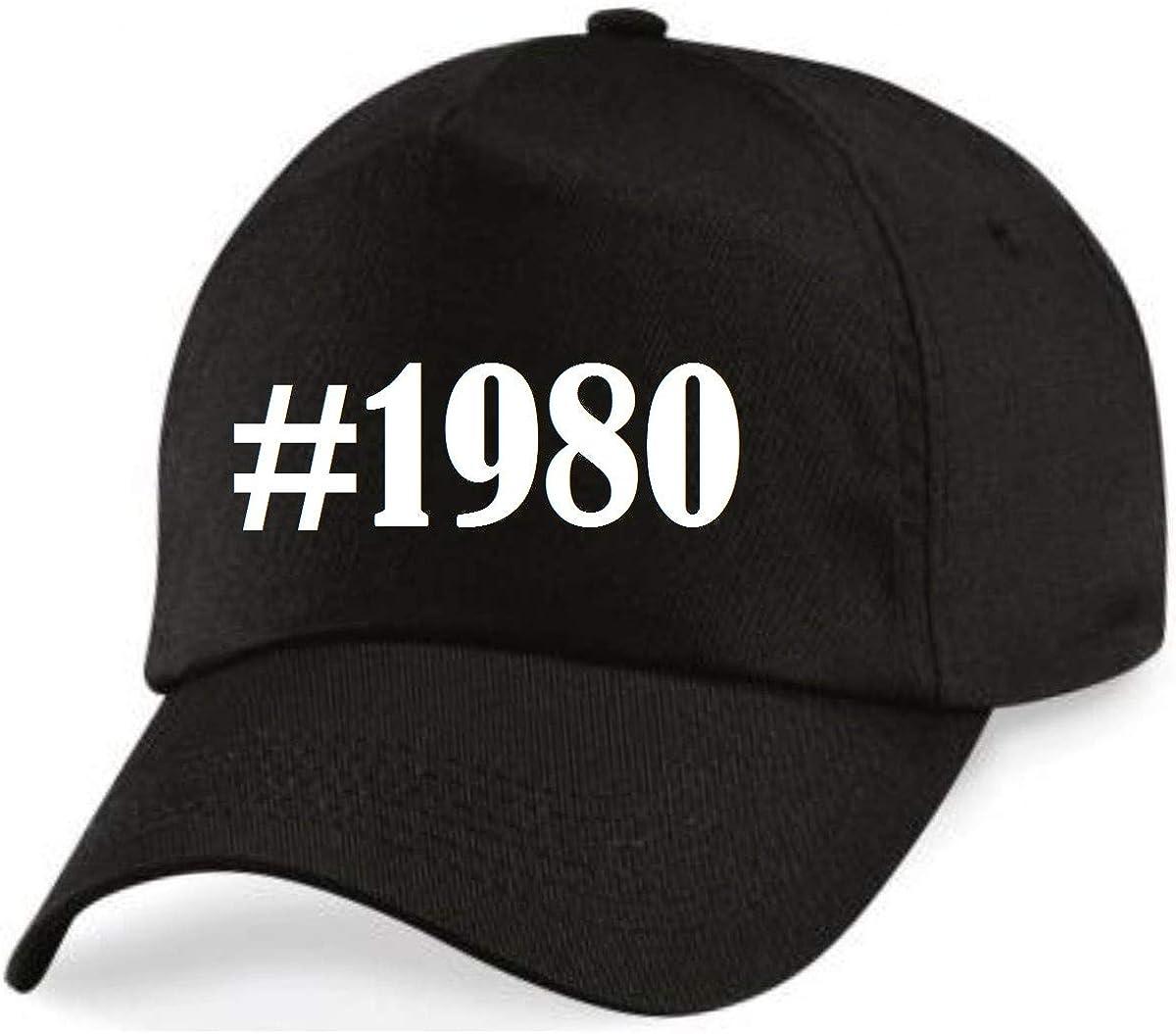 Casquettes de Baseball #1980 Hashtag Diamant Social Network Basecap pour Les Hommes Femmes Gar/çon /& Fille en Noir
