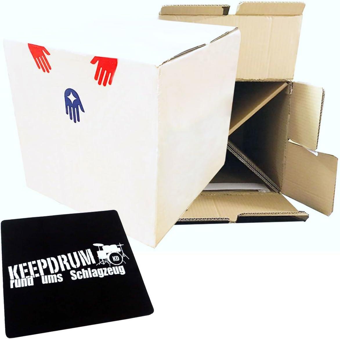 Baff Beat Caja de cartón la de cartón Niños cajón + Keepdrum sitzpad: Amazon.es: Instrumentos musicales