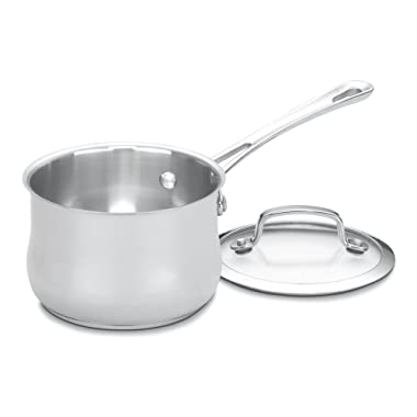 Cuisinart 419-14 Contour Stainless 1-Quart Saucepan with Cover