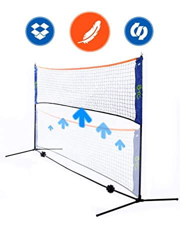 Street Tennis Club Portable Badminton Net Stand - Light and Fast Set Up - Perfect for