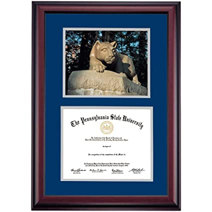 Amazon.com - Campus Linens Penn State Nittany Lions Diploma Frame ...