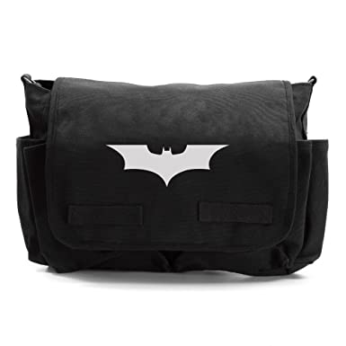 bbeb77cccf Batman Begins The Dark Knight Army Heavyweight Messenger Shoulder Bag Black    Wh