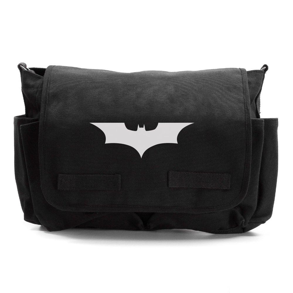 Batman Begins The Dark Knight Army Heavyweight Messenger Shoulder Bag Black & Wh