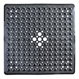 SlipX Solutions Square Shower Stall Mat (53 cm X 53 cm, Black)