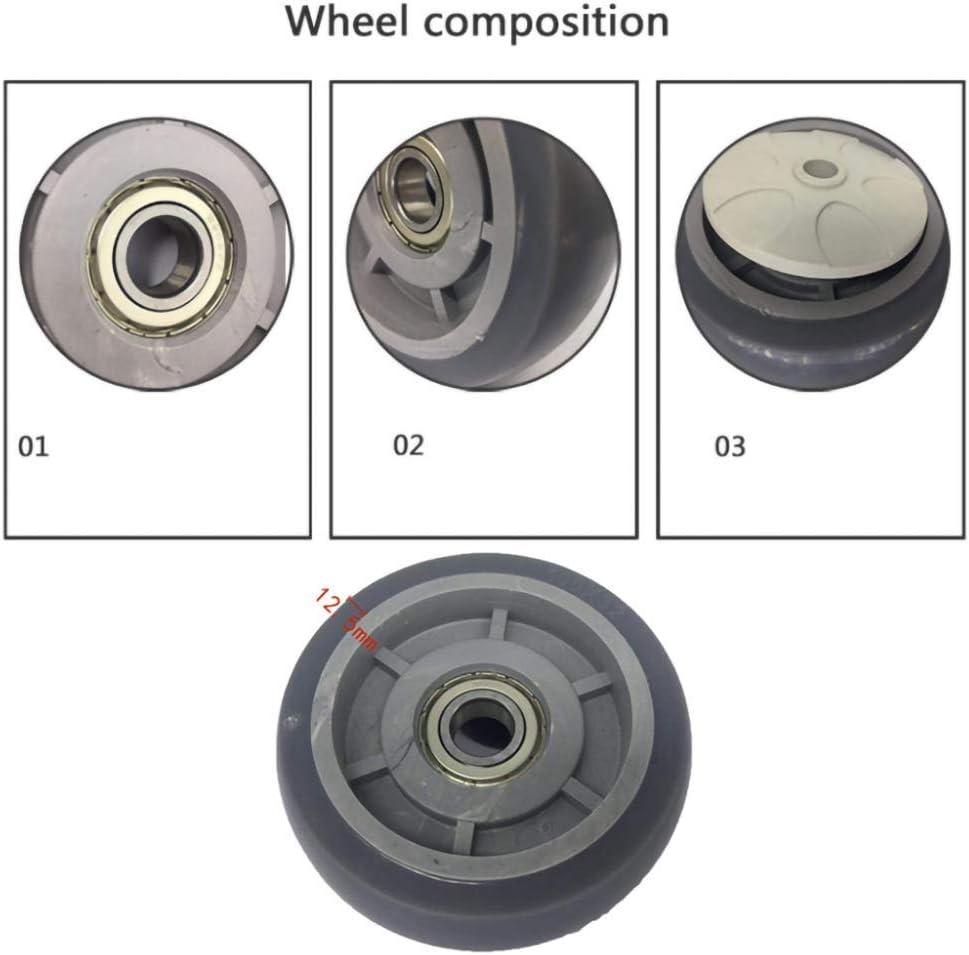 125mm 4//5in Swivel Caster//Brake Caster,TPR Insert Rod Caster,Single Wheel Load 65//85KG,for Hospital Bed,Stretcher,Medical Equipment 5 pcs // Swivel