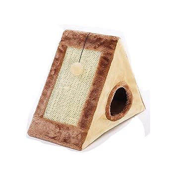 JXLBB Sándwich, Casa para gatos Invierno Cálido Casa de gato Casa de gato Cerrada Tienda de ...