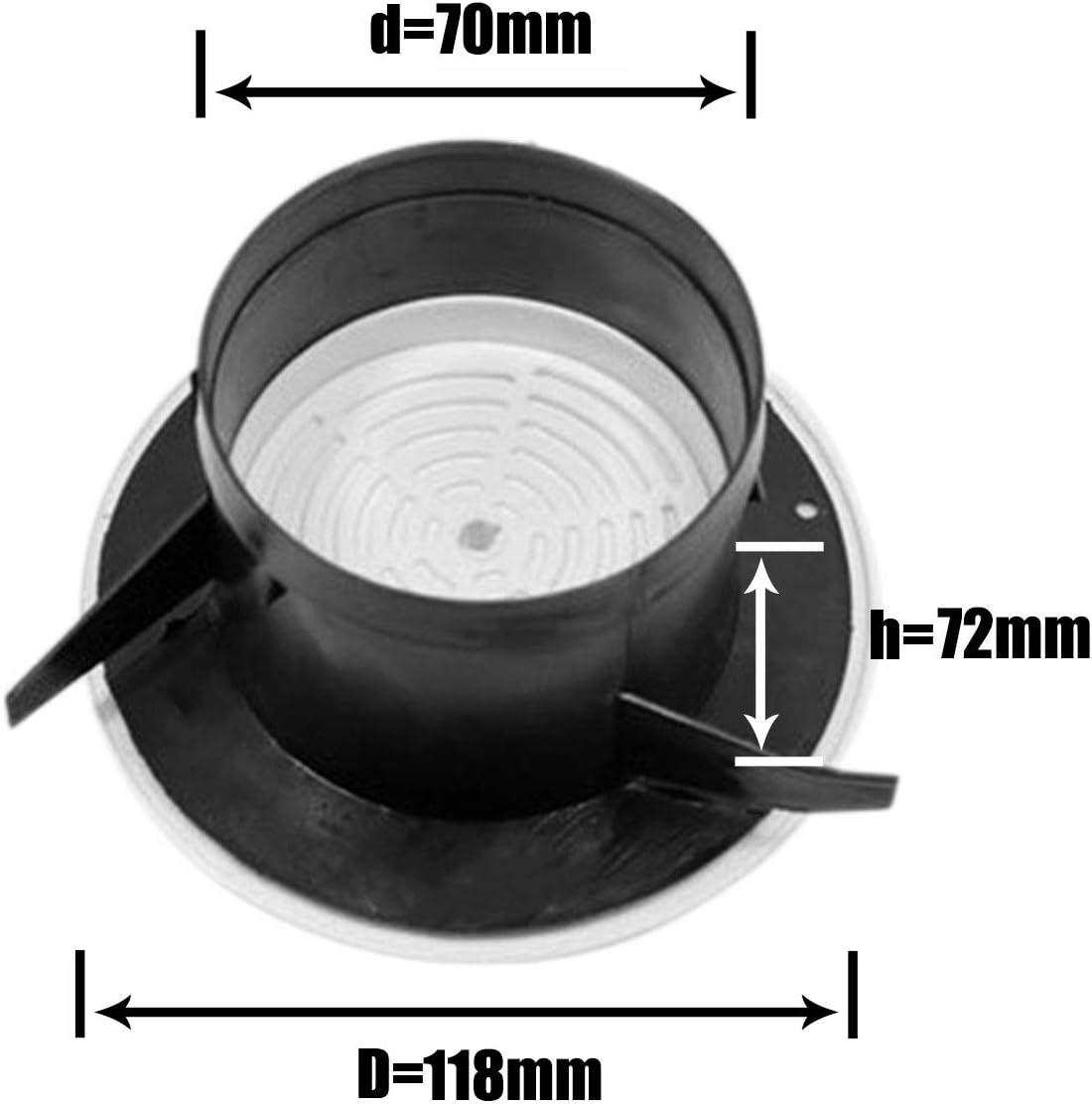 125 mm Grille da/ération ronde Grille da/ération en plastique 75 mm Blanc