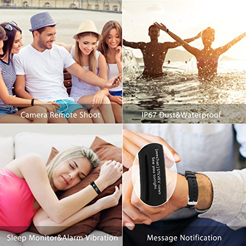 Fitness Tracker Tantan Lohas01 Smart Bracelet IP67 Waterproof Heart Rate and Blood Pressure / Sleep Monitor Sports Bluetooth 4.0 Activity Tracker with HD OLED Touch Screen for Android and IOS