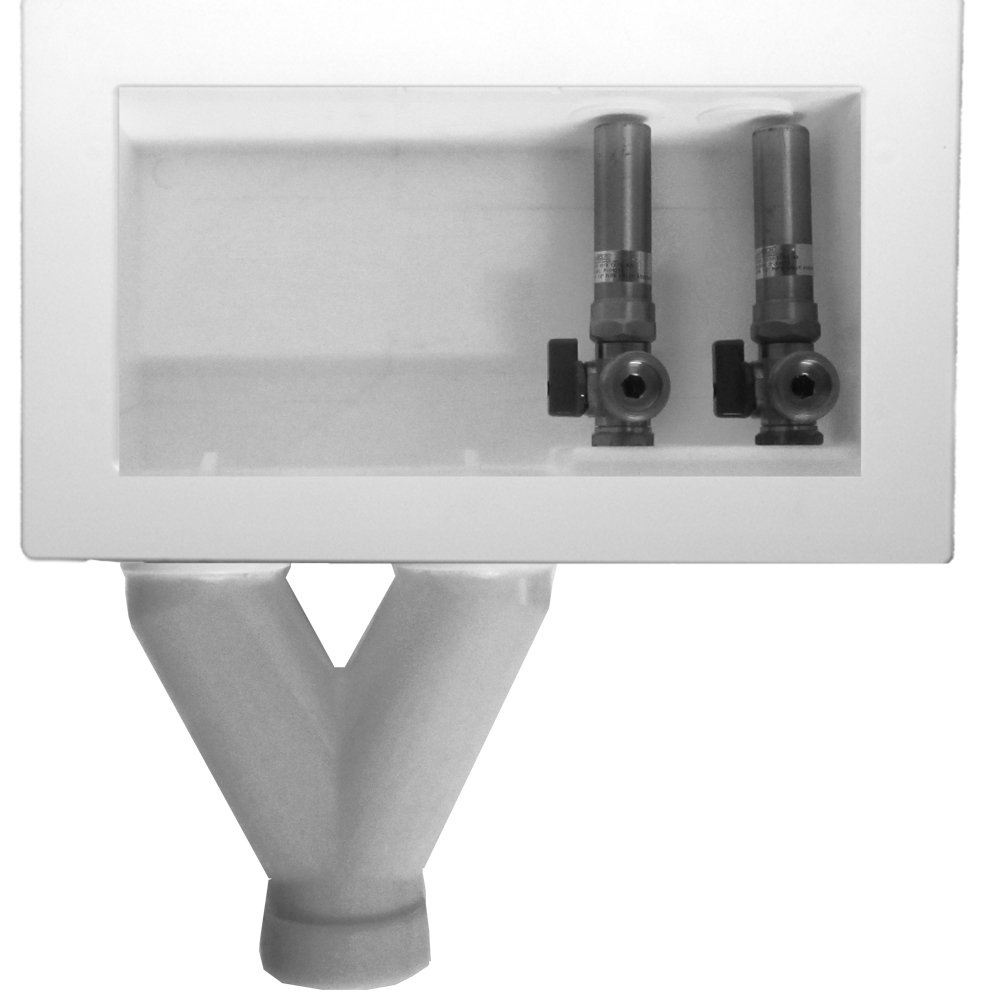LSP OB 705 Assembled Outlet Box with Pex Valves Tornado White