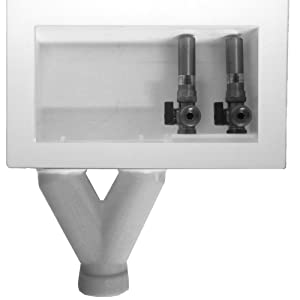 LSP OB-709 Outlet Box with CPVC Valves Assembled, Tornado White