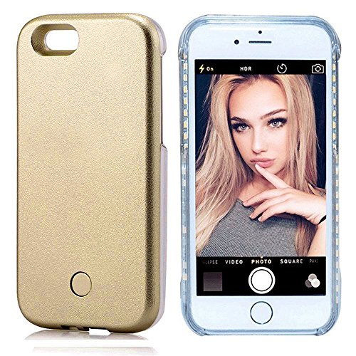 Cutelook New LED Light Up Luminous (Dimmable) Cell Phone Case by Readgo,Great For iPhone 8 Plus / 7 Plus (Gold)