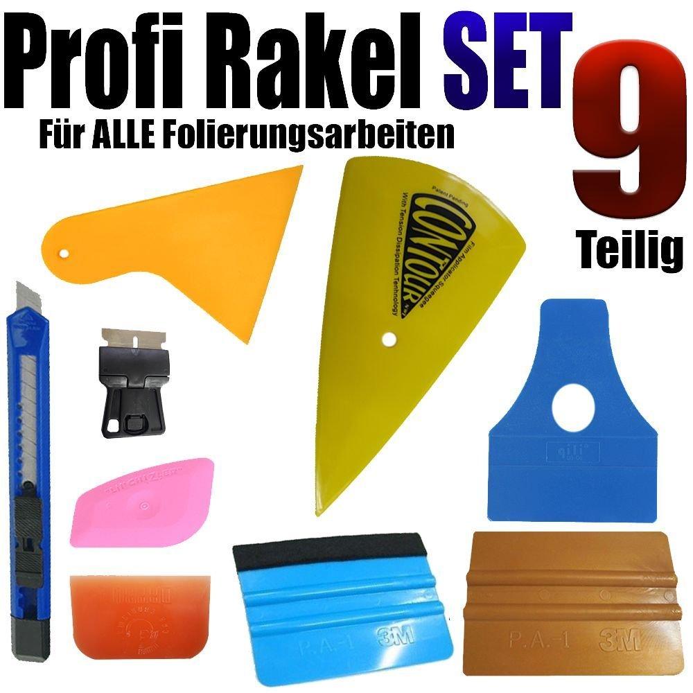 Ein 9 Teilige Profi Rakel Set - Auto Folierung - Auto Glass www.leonfolien-shop.de