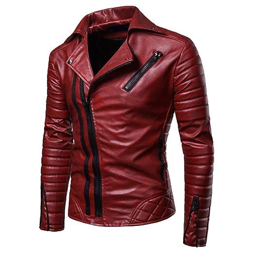 Amazon.com: Ximandi Clearance, chaqueta plisada para hombre ...
