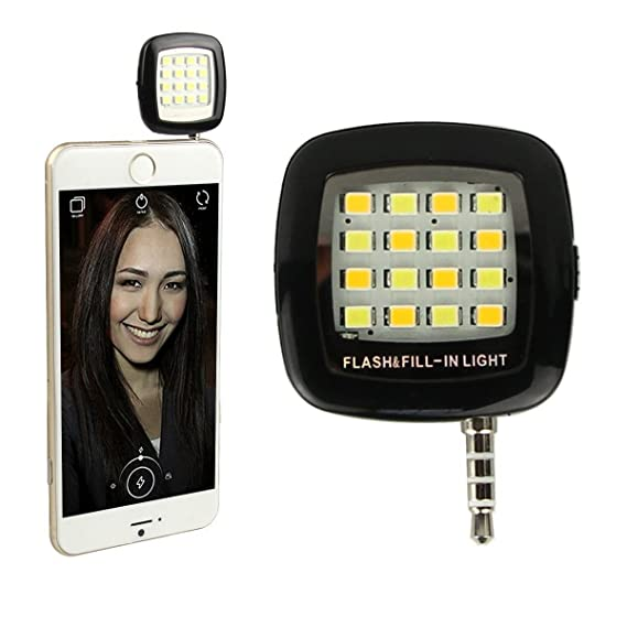 Phone Flash Portable Phone Selfie Mini 16 Led Flash Fill Light For Smartphone Cell Phone Adapter Accessories Making Things Convenient For Customers Mobile Phone Adapters