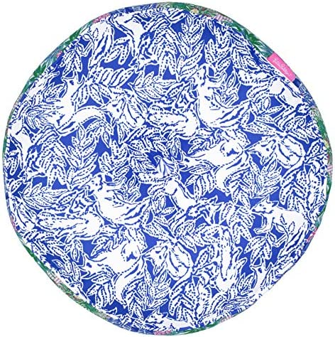 Lilly Pulitzer Indoor Outdoor Round Decorative Pillow, Cheek to Cheek