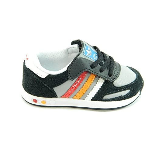 1c2a6a11a9fe1 Adidas LA Trainer CF I Q20586 Black Grey Red Orange for Toddlers Boys   Amazon.co.uk  Shoes   Bags