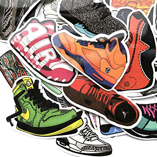 Mizzuco Vinyl Stickers Waterproof Fashion Shoes Stickers 41 Pieces for Teens Girls Laptop Bumper Helmet Ipad Car Luggage Water Bottle (QX28)