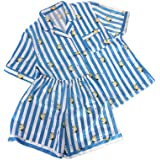 APHT Women BT21 Sleepwear Nightgown BTS Funny Cartoon Sleepwear Set Summer Top CHIMMY Cooky KOYA MANG RJ SHOOKY TATA Pajamas