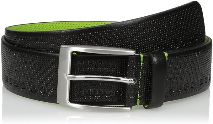 HUGO by Hugo Boss Mens Ticolor Printed Leather Belt