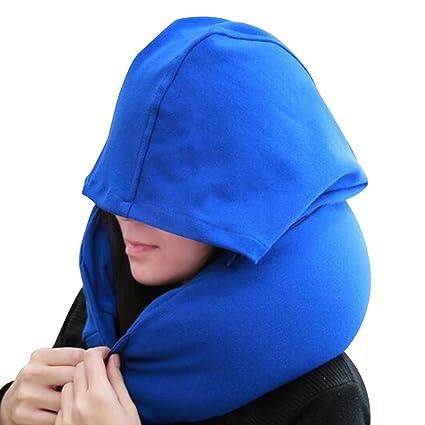 eizur con capucha de espuma en forma de U almohada almohada de apoyo cuello desmontable portátil ...
