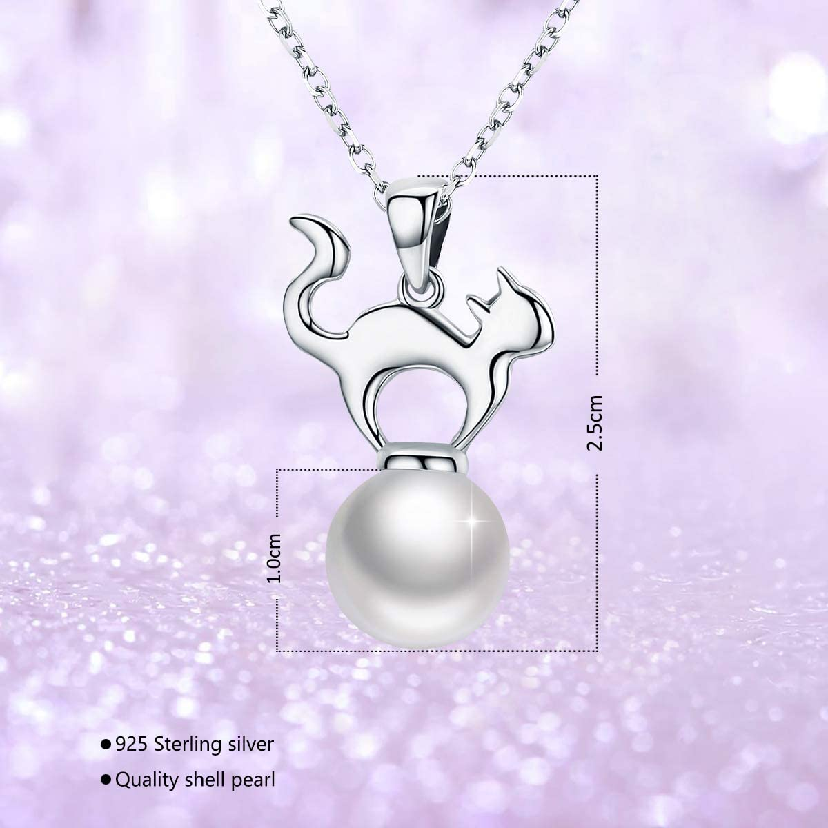 CS-DB Jewelry Silver Leaf Pearl Chain Charm Pendants Necklaces
