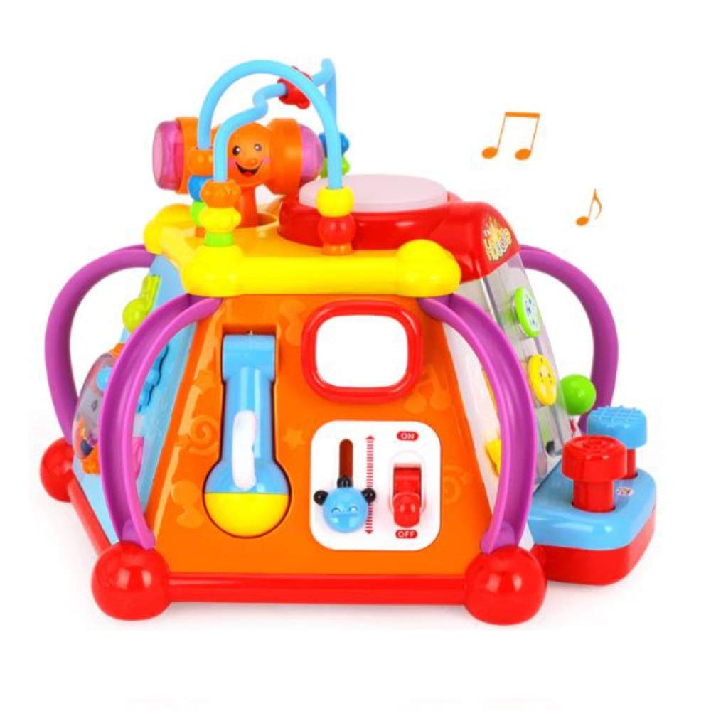 Toytykes Musical Activity Cube Learning Toy Comes with Lights and Sounds Educational Game Play Center Best Gift for Children Different Functions to Learn Ultimate Fun for Kids by Toytykes