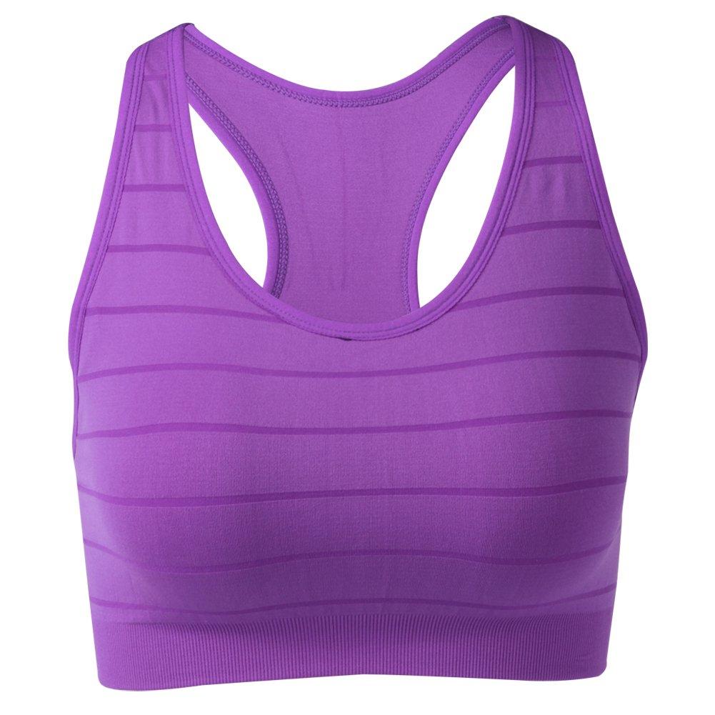 BollyQueena Sport Bra with Padding, Women's Nursing Bras Purple L