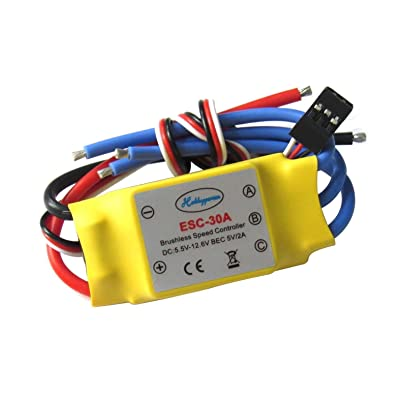 Hobbypower 30a Brushless Speed Controller ESC for Multicopter Helicopter Airplane: Toys & Games