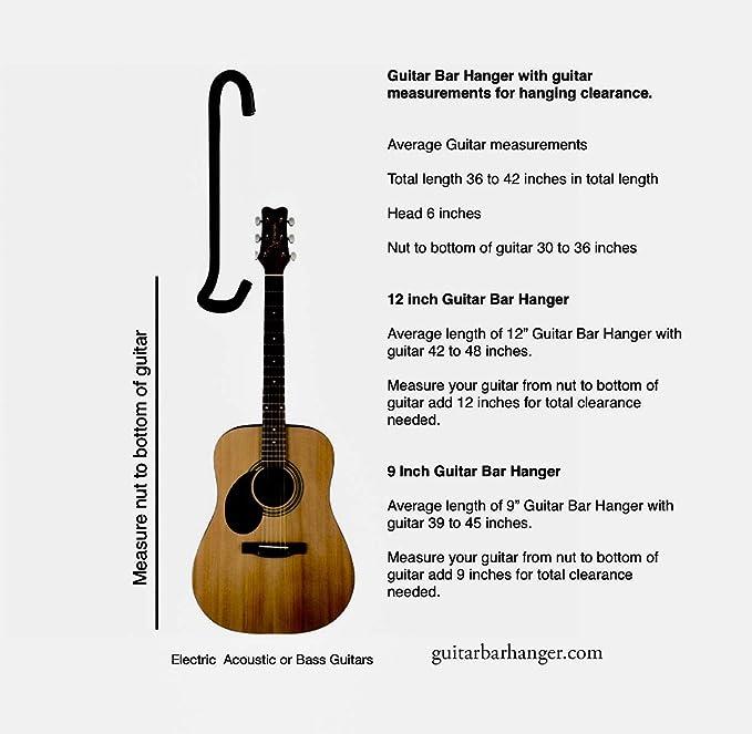 Percha de barra de guitarra 12p para armario / pantalla para ...