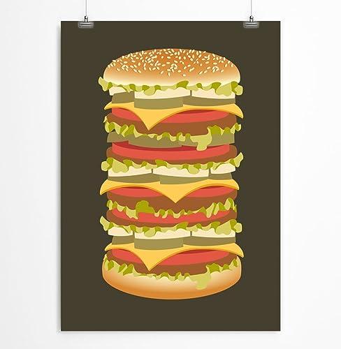Amazon.com: Big Mac Wall Art For Kitchen - Unframed Paper Print 5x7 ...