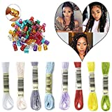 HairPhocas 8 Colors Magic Hair Strings Box Braids Hair Deco Styling Hair Braid Accessories with Dreadlock Beads Micro Rings