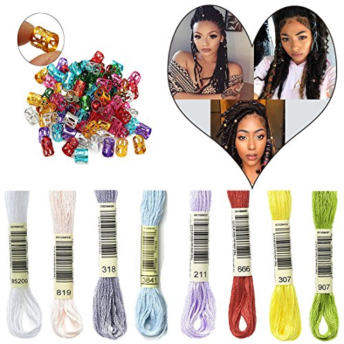 HairPhocas 8 Colors Magic Hair Strings Box Braids