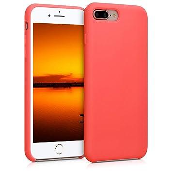 kwmobile Funda para Apple iPhone 7 Plus / 8 Plus - Carcasa de [TPU] para teléfono móvil - Cover [Trasero] en [Coral Vivo]