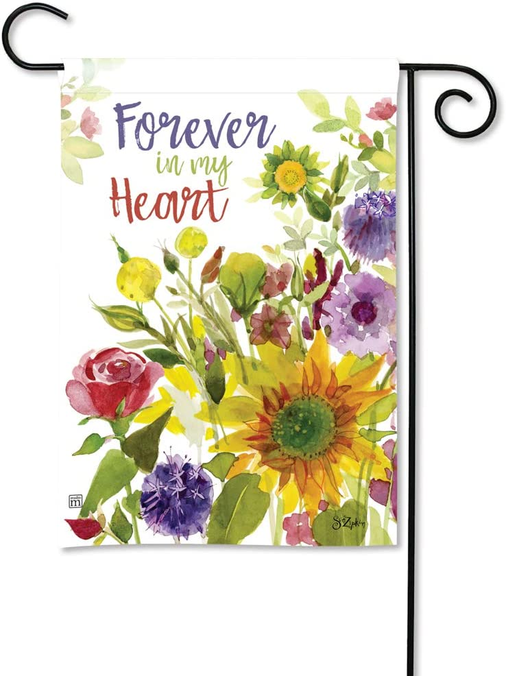 BreezeArt Studio M Forever Flowers Decorative Memorial Bereavement Garden Flag – Premium Quality, 12.5 x 18 Inches