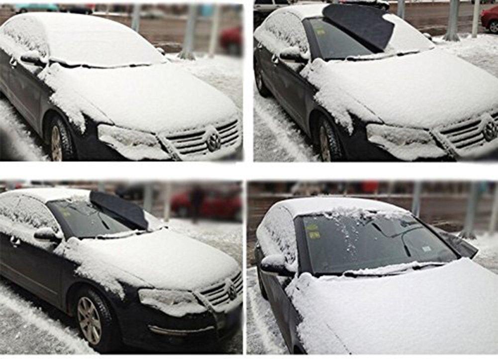 Mit Aufbewahrungsbeutel K-Bright 92x142-car Cover 92x142cm Sonnenblende Frontscheibe,Auto Winter+Sommer,Sonnenschutz Windschutzscheiben Schneeschutz Abdeckung