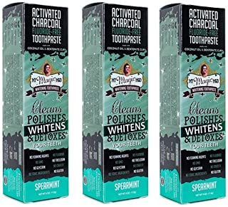 product image for My Magic Mud Activated Charcoal Toothpaste for Whitening - SPEARMINT 4 oz (113 g) (3)