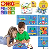 ETI Toys | STEM Learning | 490 Piece Mosaic Puzzle; Build Cat, House, Alligator, and More! 100% Non-Toxic, Fun, Creative Skills Development! Best Gift, Toy for 3, 4, 5 Year Old Boys and Girls.