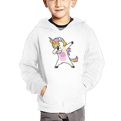 Dabbing Unicorn Kid's Fashion Pullover Hoodie Sweatshirt With Pocket