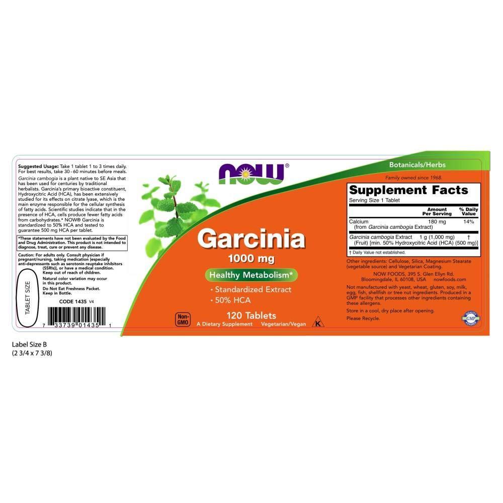 Amazon.com: Ahora, Garcinia 1000 mg, 120 pastillas: Health ...