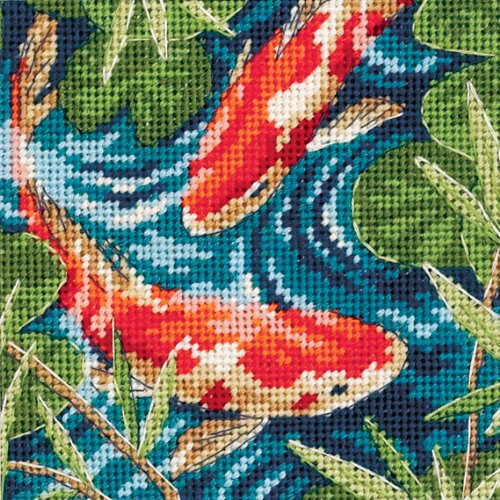 Dimensions Needlecrafts 7214 Needlepoint, Koi Pond