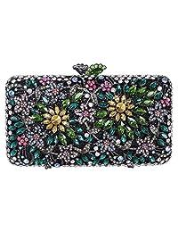 Fawziya Rhinestone Clutch Bag Baguette Purse Handbag