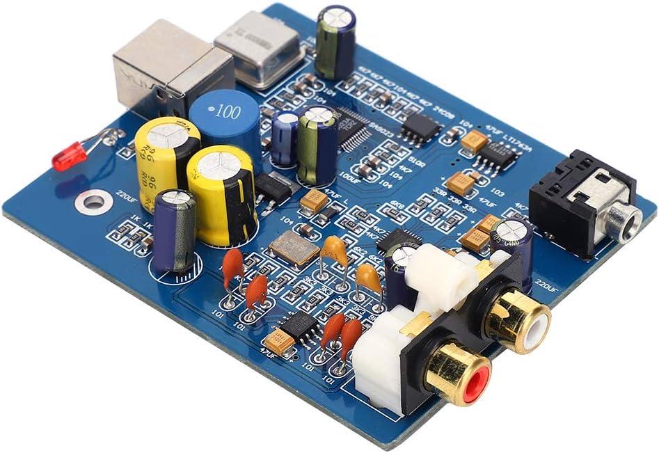 Placa decodificadora, placa decodificadora de audio Proceso de pulverización de estaño completo Piezas del amplificador de la tarjeta de sonido externa, nivel de grabación sin fluctuaciones Calidad d