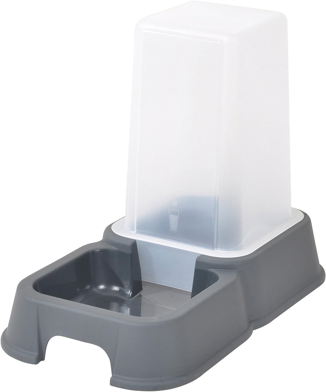 Codico - Dispensador de Agua y Comida para Gatos, Color Gris, 1,5 l