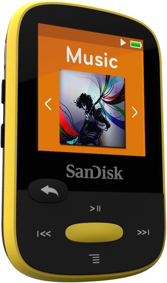 SanDisk Clip Clip Sport - Reproductor MP3 , 8GB, Amarillo: Amazon ...